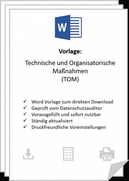 Jetzt Word-Vorlage zur DSGVO TOM Dokumentation downloaden.