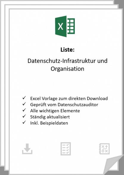 Datenschutz-Infrastruktur und Organisation
