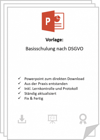 DSGVO Mitarbeiterschulung inkl. Protokoll.