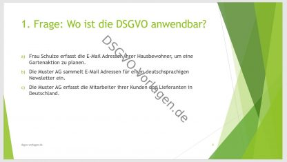 Beispiel für eine Frage in der Mitarbeiterschulung nach DSGVO