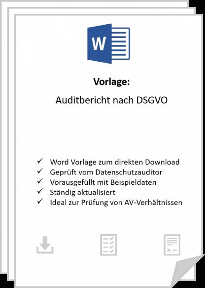 Einen Auditbericht nach DSGVO für eine Auftragsverarbeiter.