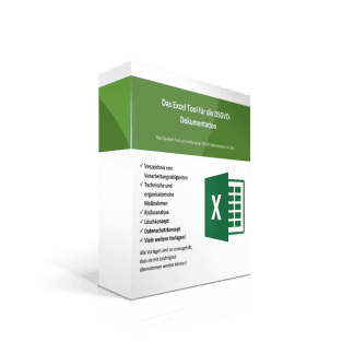 Die Excel Vorlage zur DSGVO Dokumentation.