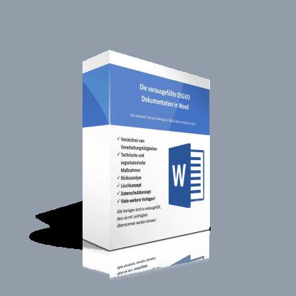 Das Komplettsystem zur DSGVO Dokumentation in Word.